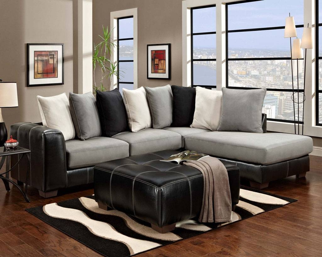 Living Room: Cool Affordable Sectional Sofas For Elegant Living With Black And White Sectional Sofa (View 22 of 30)