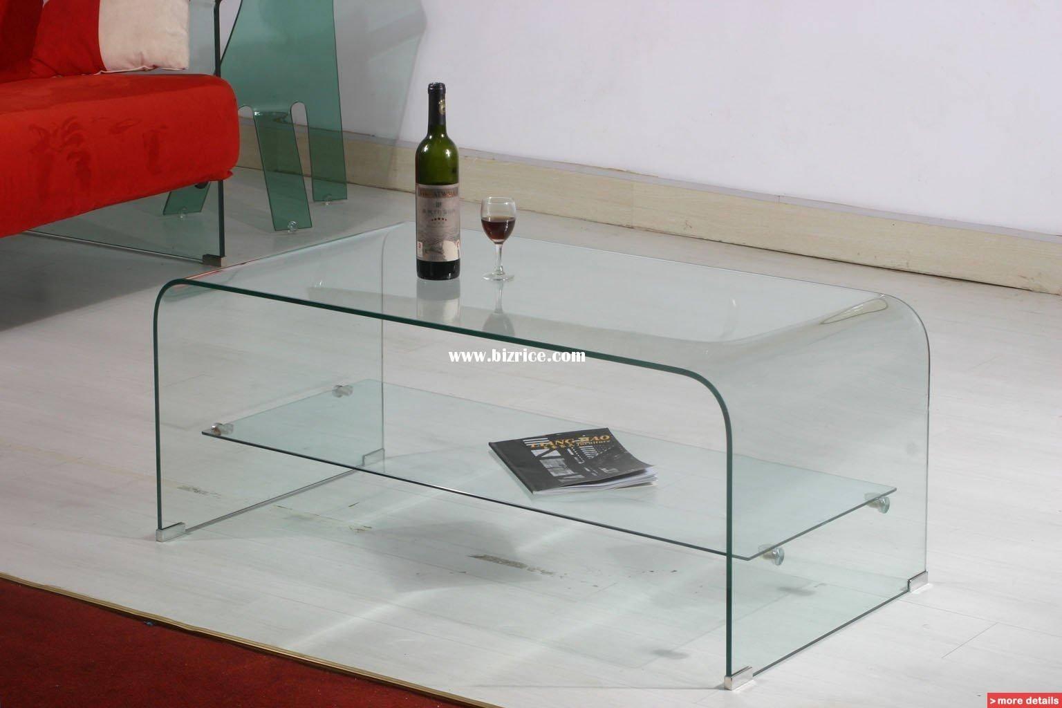 Living Room: Elegant Glass Living Room Table Tempered Glass Coffee in All Glass Coffee Tables (Image 22 of 30)