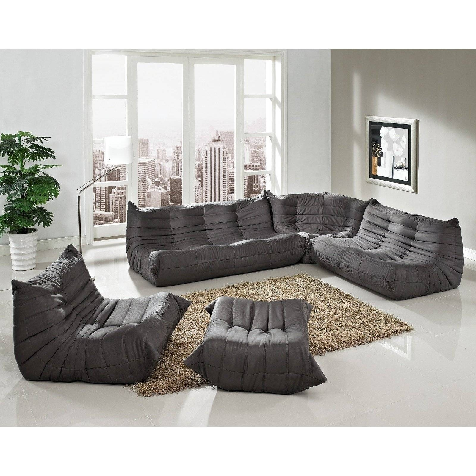 Living Room : Furniture Living Room And Black Leather Upholstery in Purple Ottoman Coffee Tables (Image 16 of 30)