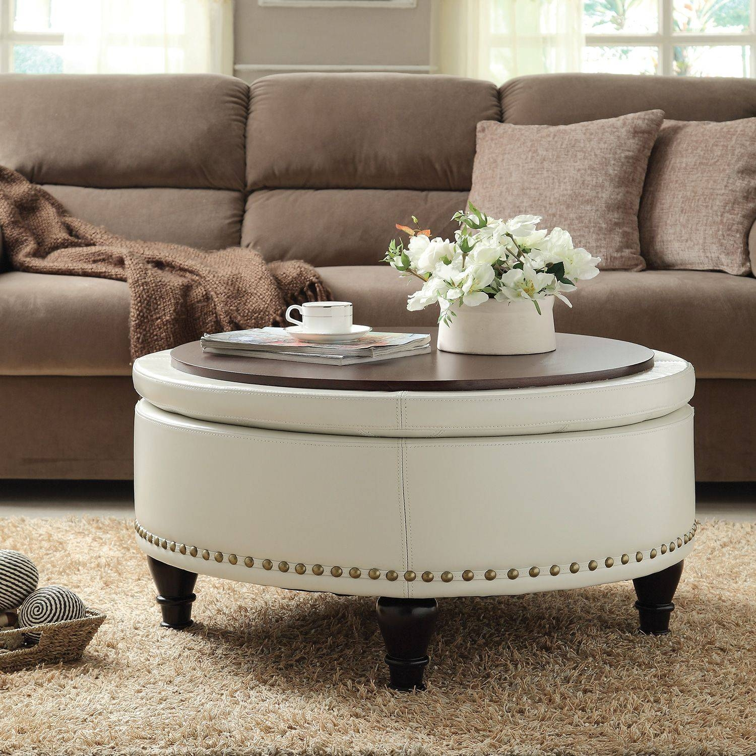 Living Room : Furniture Living Room Coffee Table With Wheels And intended for White And Brown Coffee Tables (Image 20 of 30)