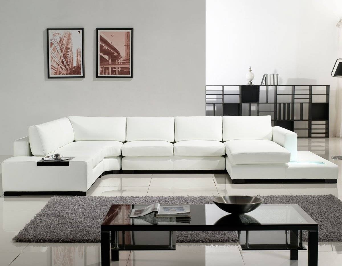 Living Room Furniture White Leather Sectional Sofa - S3Net in White Sectional Sofa For Sale (Image 16 of 30)