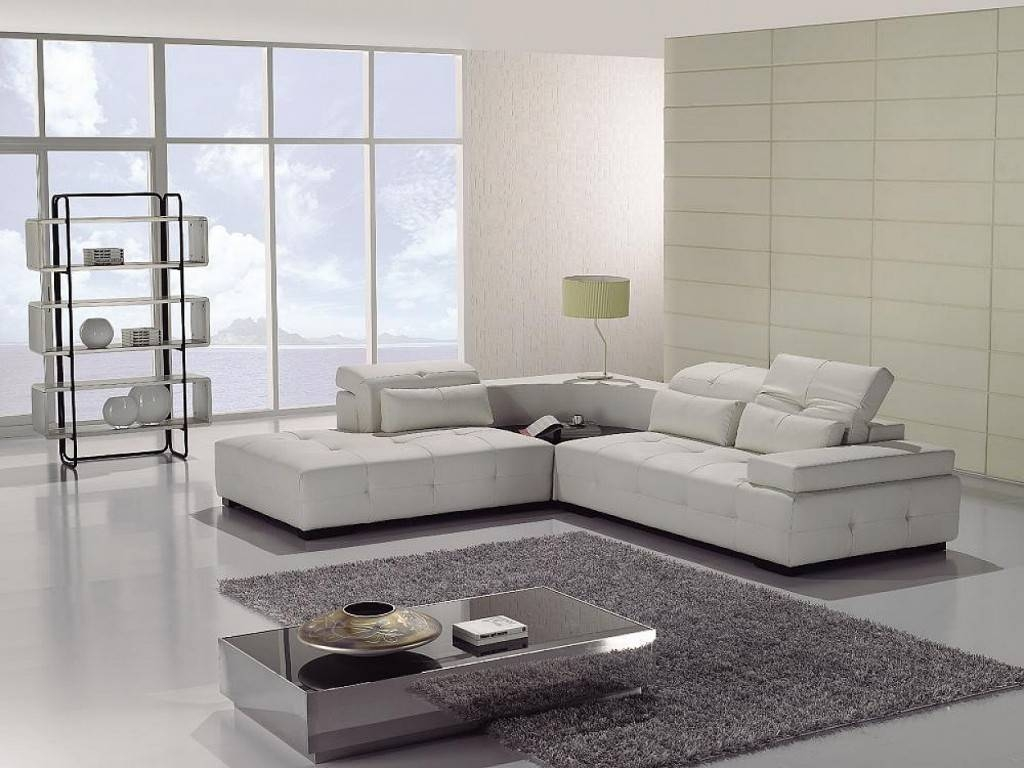 Living Room Furniture White Leather Sectional Sofa - S3Net regarding White Sectional Sofa for Sale (Image 17 of 30)