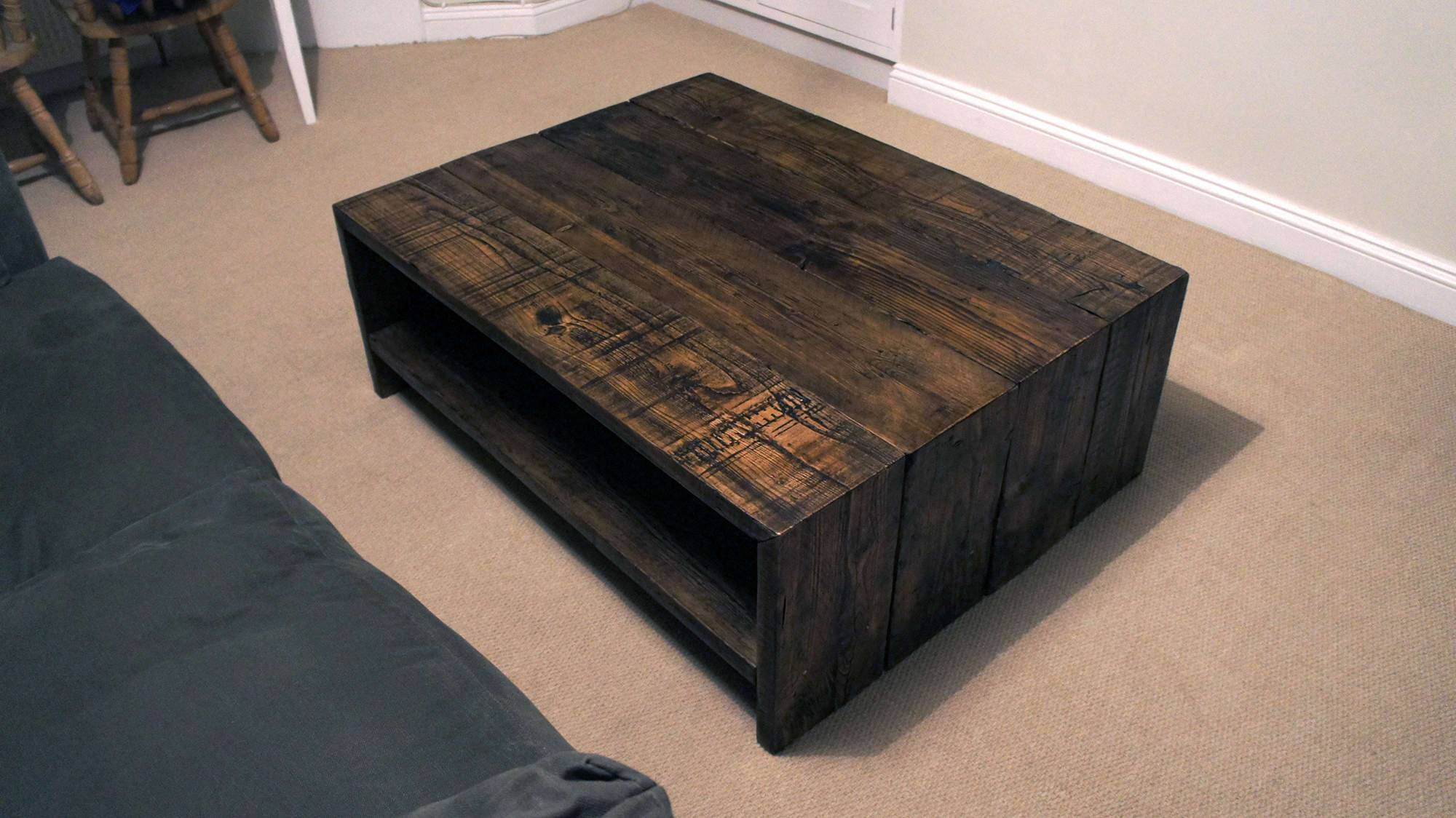 Living Room : Inspiration Furniture Mesmerizing Low Square with Reclaimed Wood and Glass Coffee Tables (Image 19 of 30)