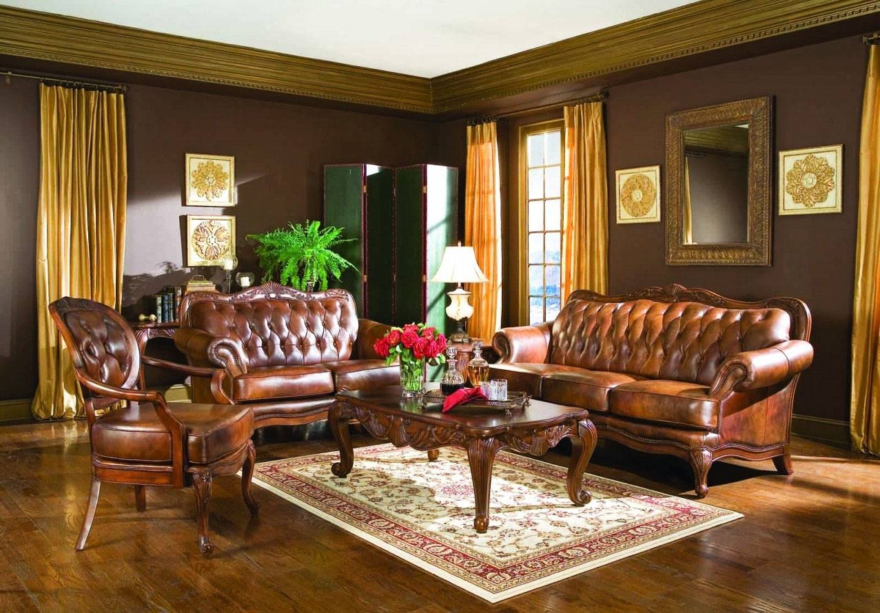 Living Room : Interesting Victorian Style Living Room Design With for Victorian Leather Sofas (Image 13 of 30)