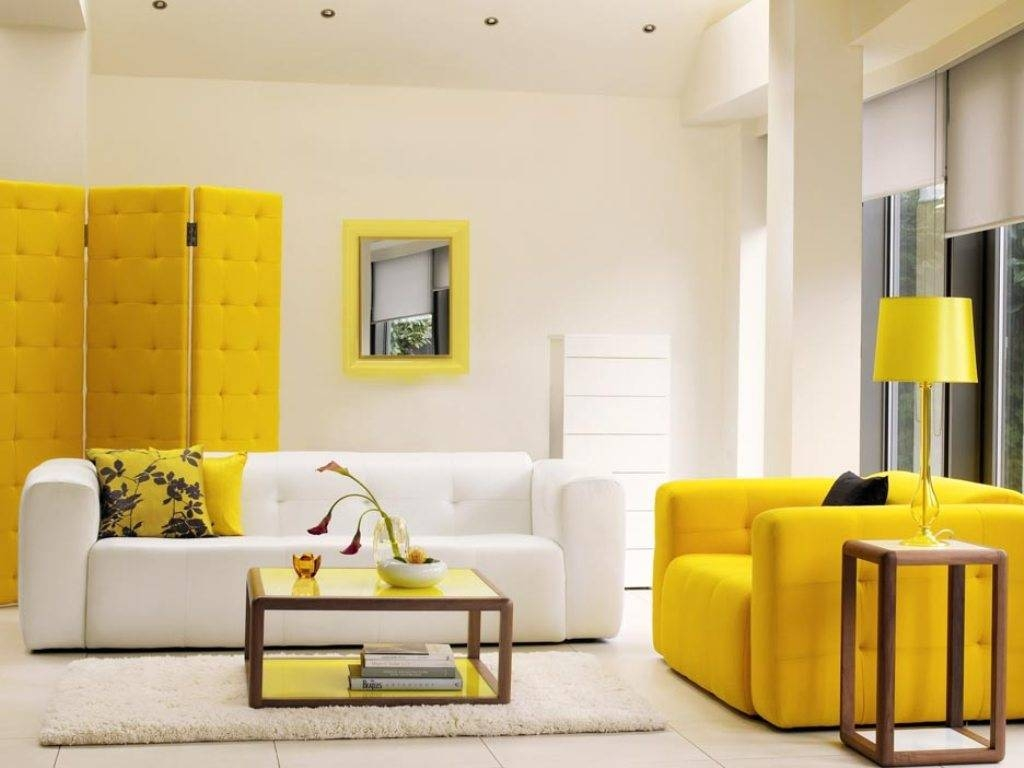 Living Room : Interior Ideas Inspiring Minimalist Living Room inside Yellow Sofa Chairs (Image 20 of 30)