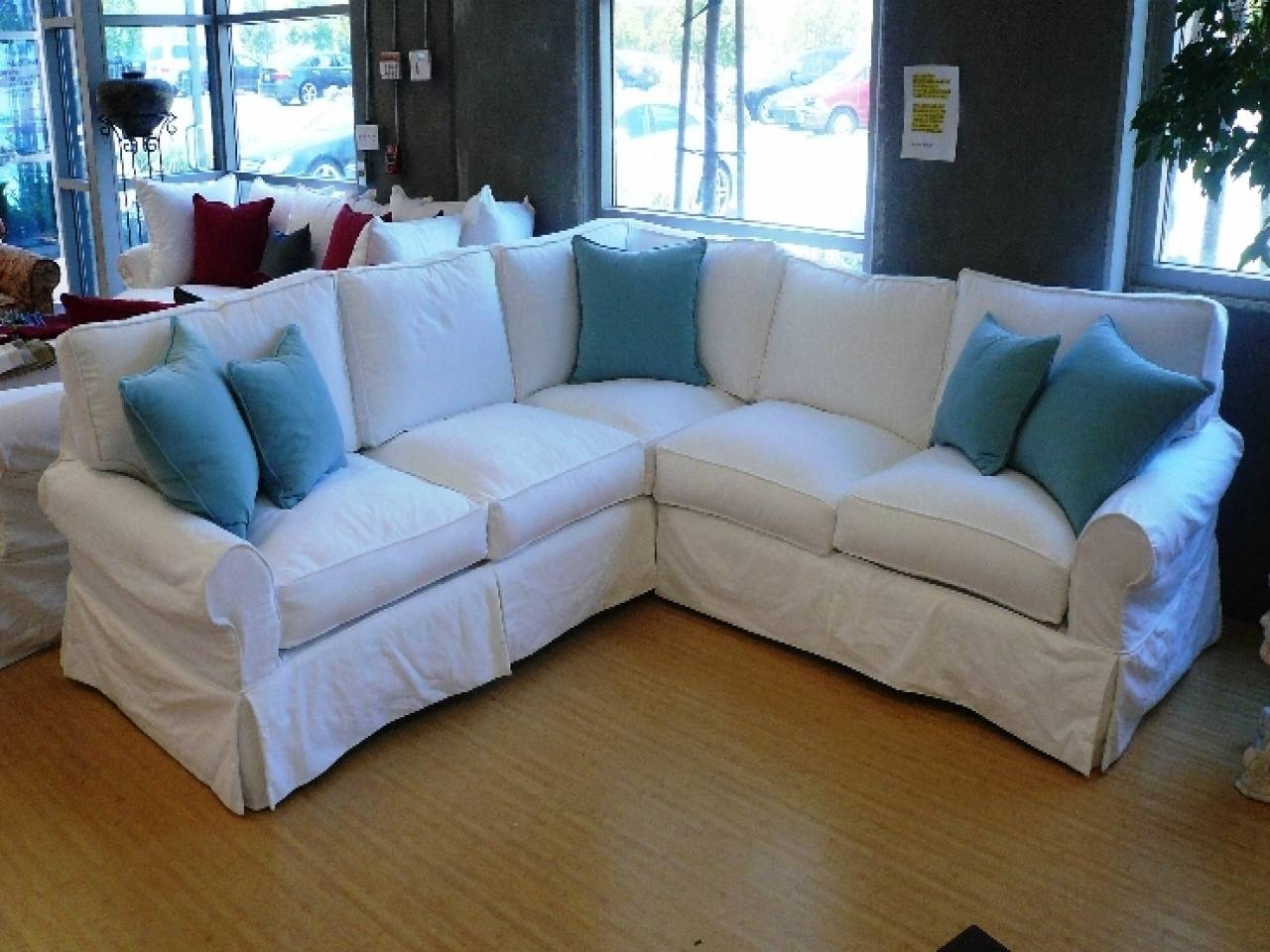 Living Room: Jessa Place Sectional | Denim Sectional Sofa | Small within Small Modular Sectional Sofa (Image 12 of 25)