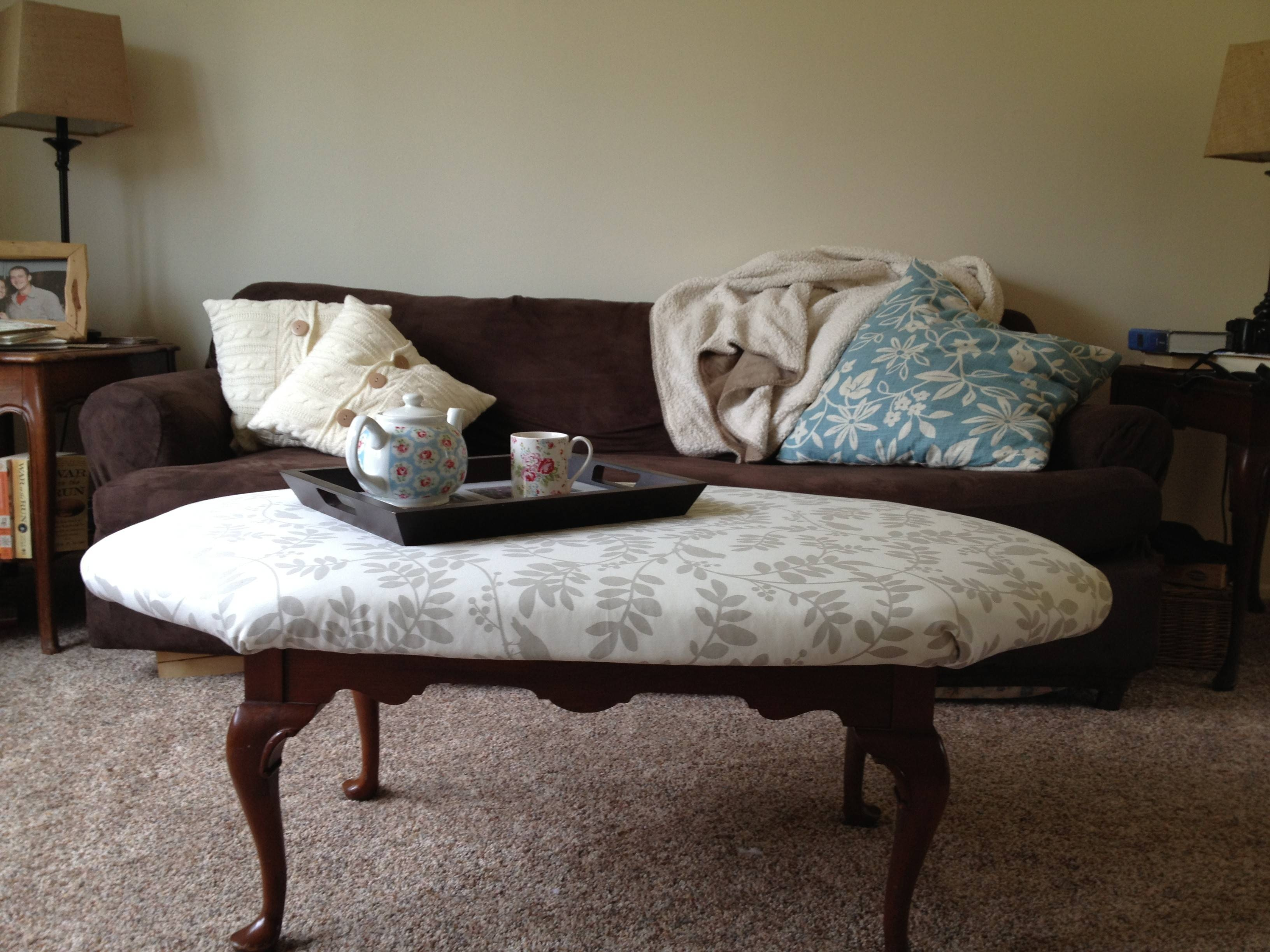 Living Room : L Shaped Coffee Couch Tufted Seat Purple Floral in Purple Ottoman Coffee Tables (Image 22 of 30)