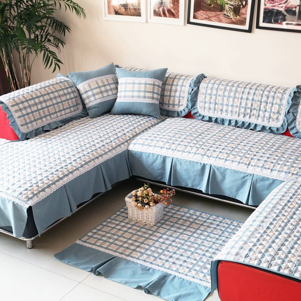 Living Room: L Shaped Couch Covers | Couch Covers Sectional intended for Sectional Sofa Covers (Image 14 of 25)