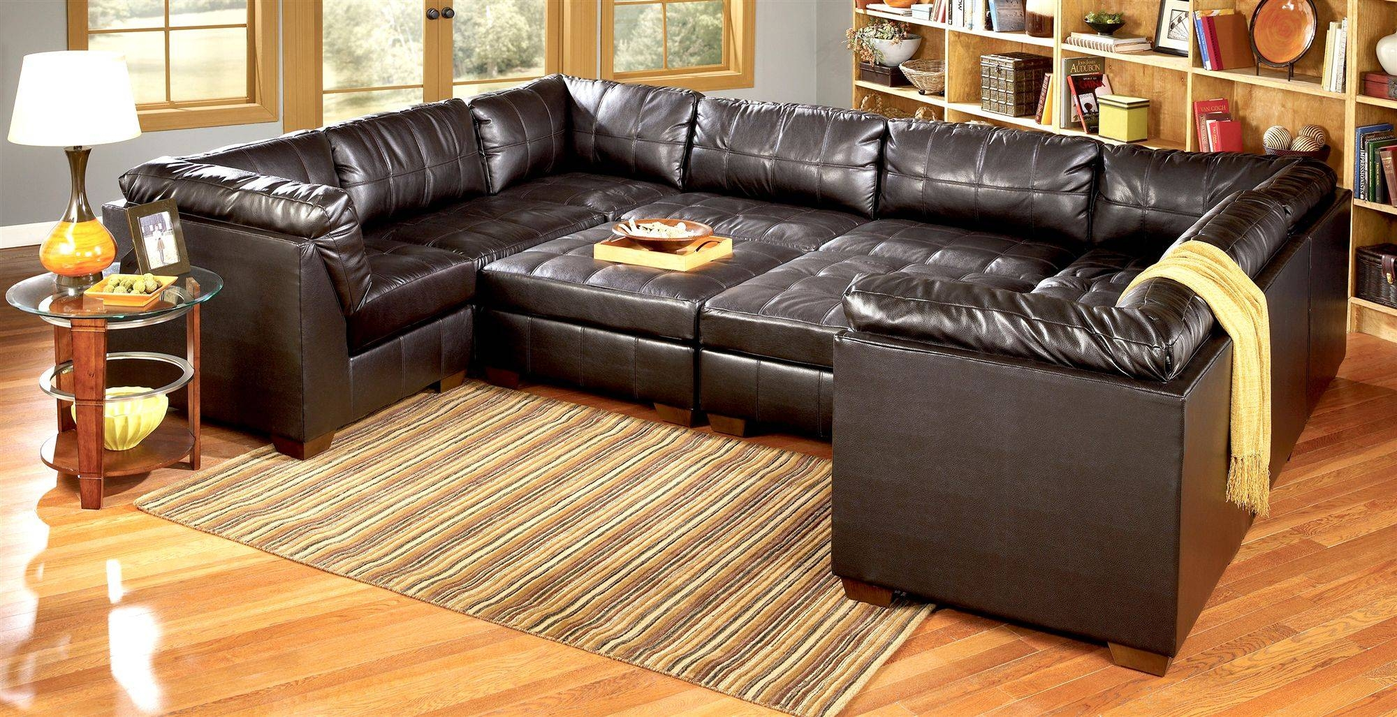 Living Room : Living Room Furniture Grey Sofas And Contemporary inside 6 Piece Leather Sectional Sofa (Image 21 of 30)