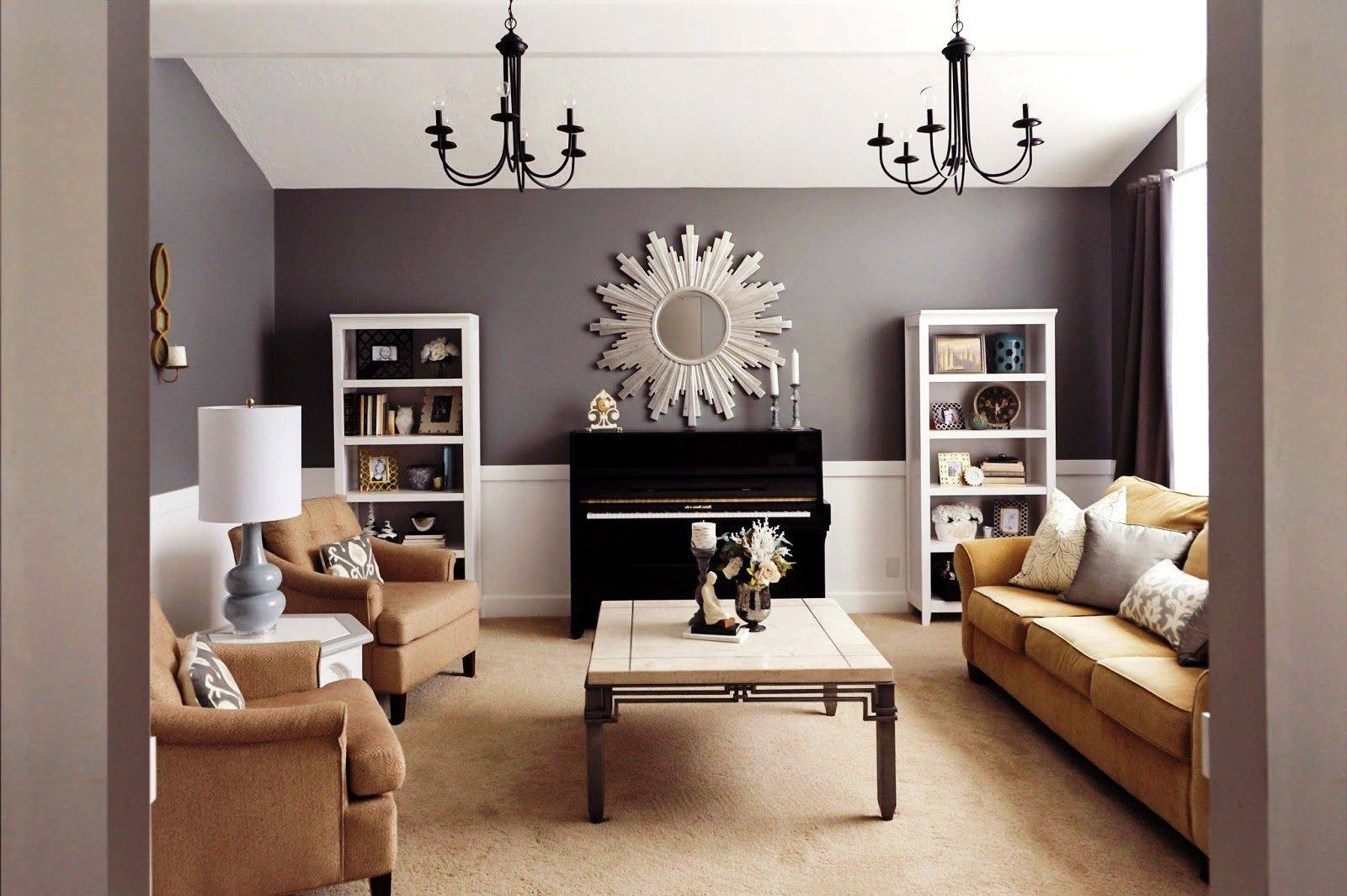 Living Room: Living Room Ideas With Oak Furniture Gray Sectional in Elephant Glass Coffee Tables (Image 24 of 30)
