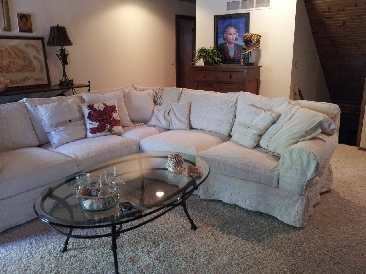 Living Room: Luxury L Shaped Couch Covers For Modern Living Room in Sectional Sofa Covers (Image 15 of 25)