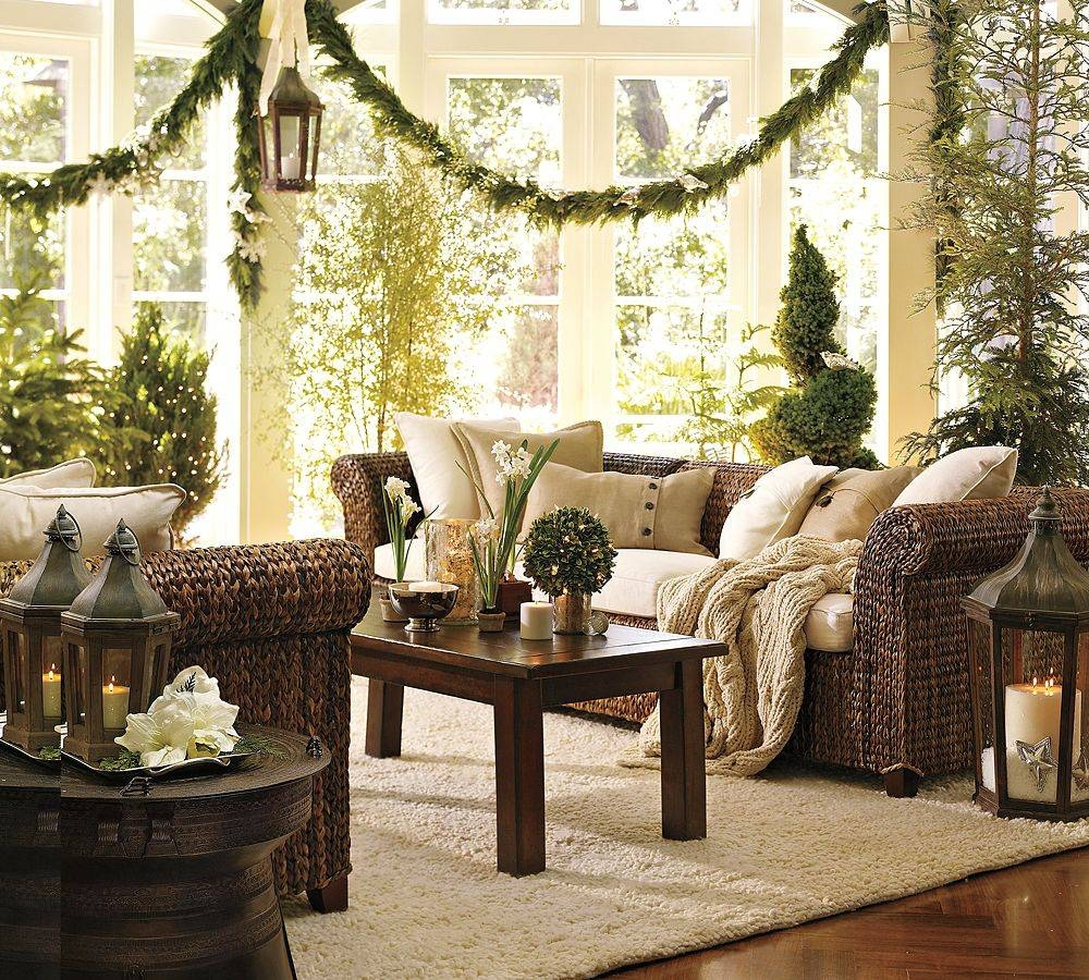 Living Room : Mantel Christmas Decorating Ideas For Small Living Pertaining To Rustic Christmas Coffee Table Decors (View 25 of 30)