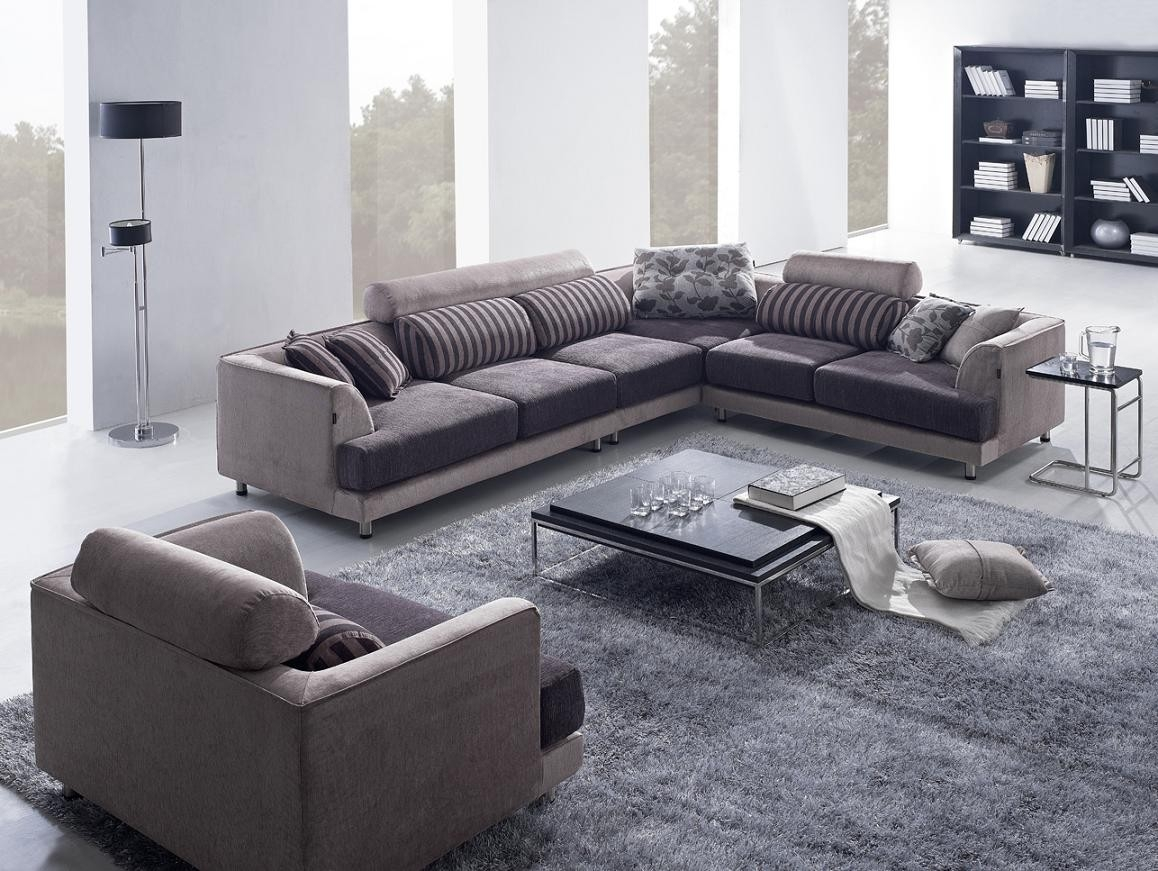 Living Room | Modern Furniture | Contemporary Furniture within Sleek Sectional Sofa (Image 14 of 25)