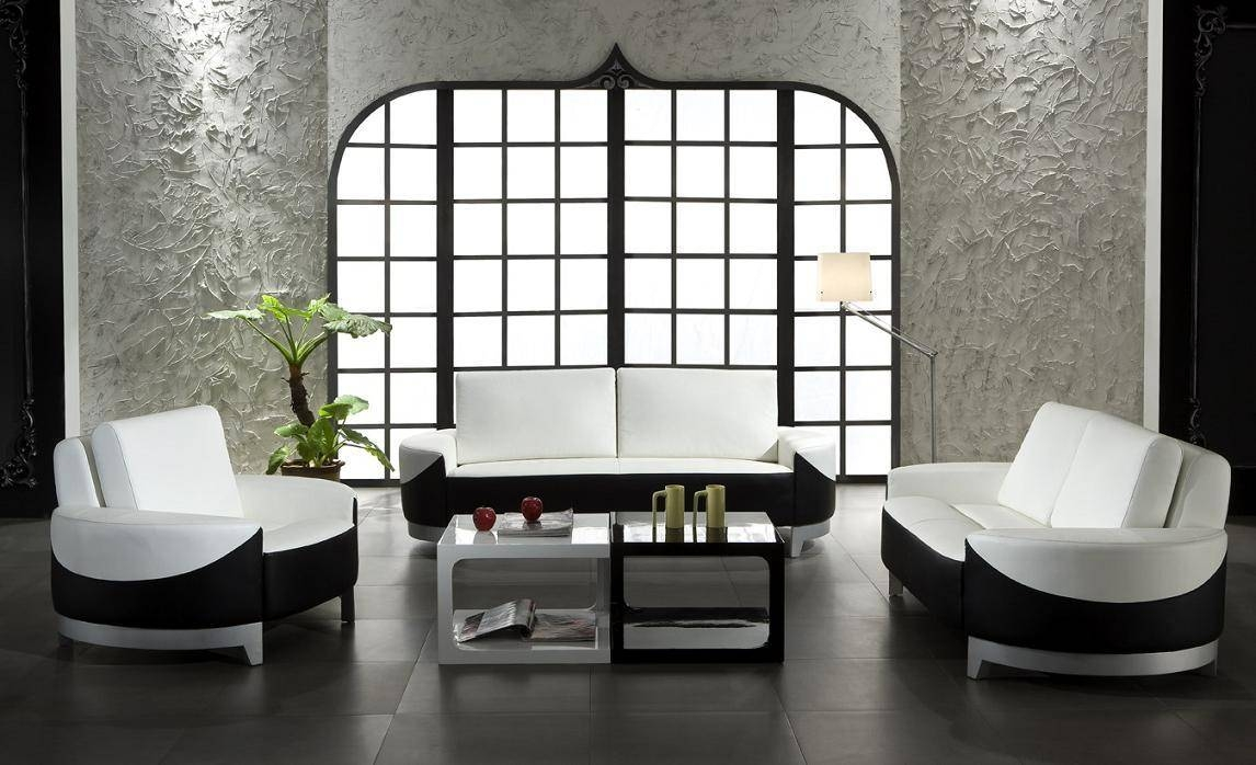 Living Room ~ Modern White Lounge Chair White Leather Sofa White L intended for White And Black Sofas (Image 21 of 30)