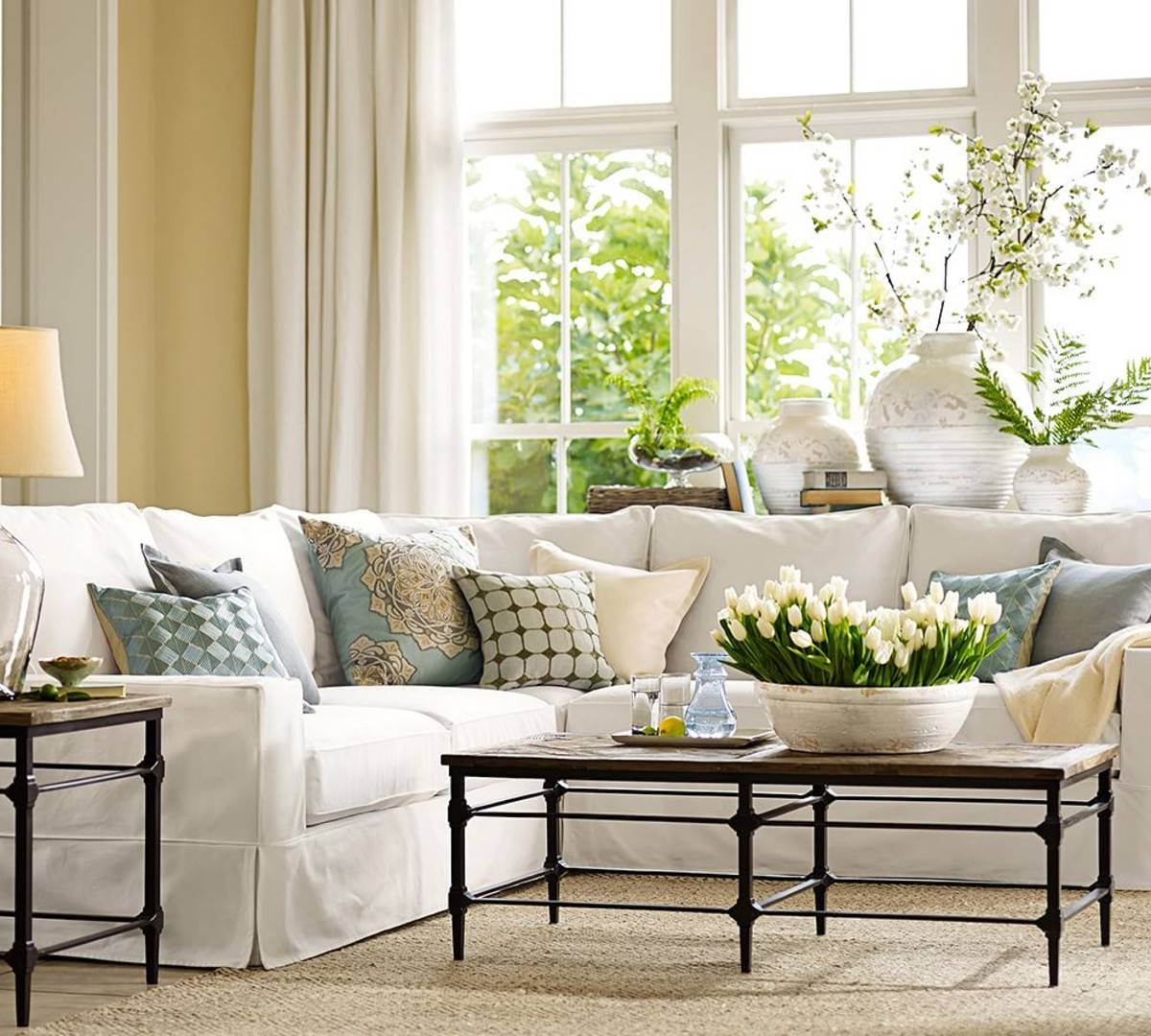 Living Room: New Pottery Barn Living Room Ideas Pottery Barn in Antique Glass Pottery Barn Coffee Tables (Image 19 of 30)