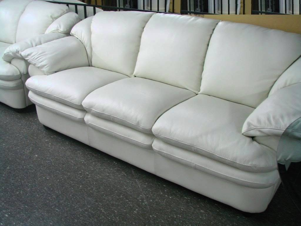 2017 Popular Off White Leather Sofa and Loveseat