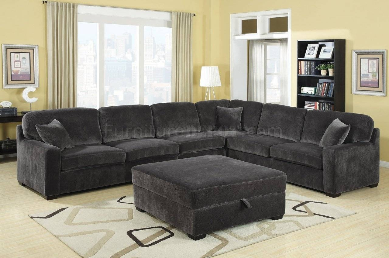 Living Room: Ottoman For Sectional | Coaster Sectional | Brown within Sectional Sofa With Oversized Ottoman (Image 19 of 30)