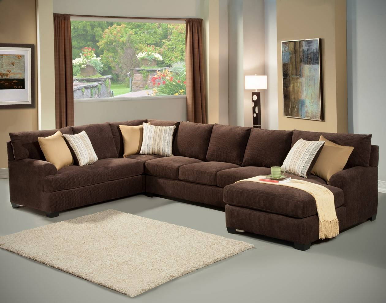 Living Room: Sectional Leather Sofas | Denim Sectional Sofa intended for Chocolate Brown Sectional Sofa (Image 23 of 30)