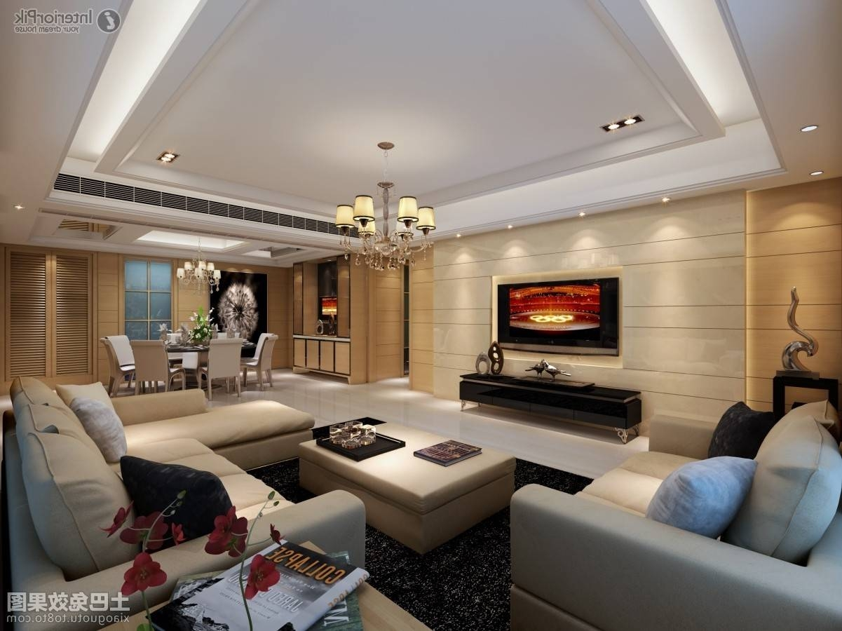 Living Room Wall Decor With Mirrors Wooden Ceiling Walnut Wall Regarding Ceiling Mirrors (View 21 of 25)