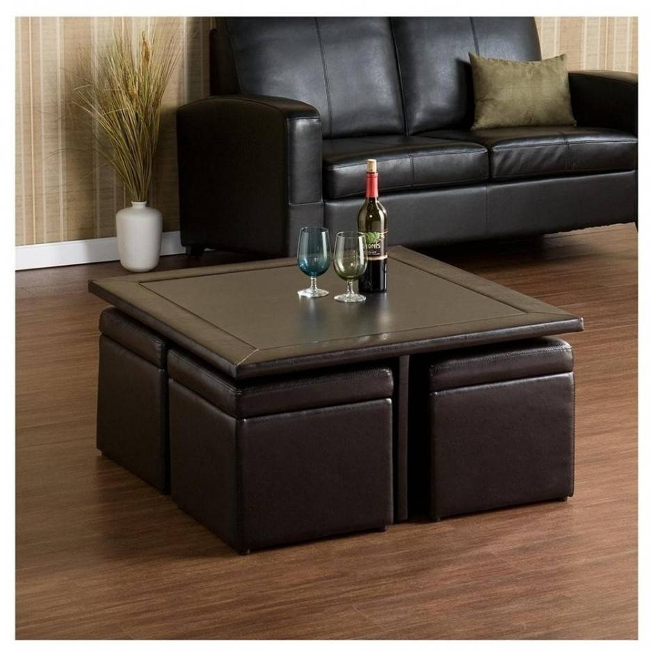 Living Room : Wonderful Ottoman Coffee Table Storage Design Ideas for Brown Leather Ottoman Coffee Tables With Storages (Image 25 of 30)