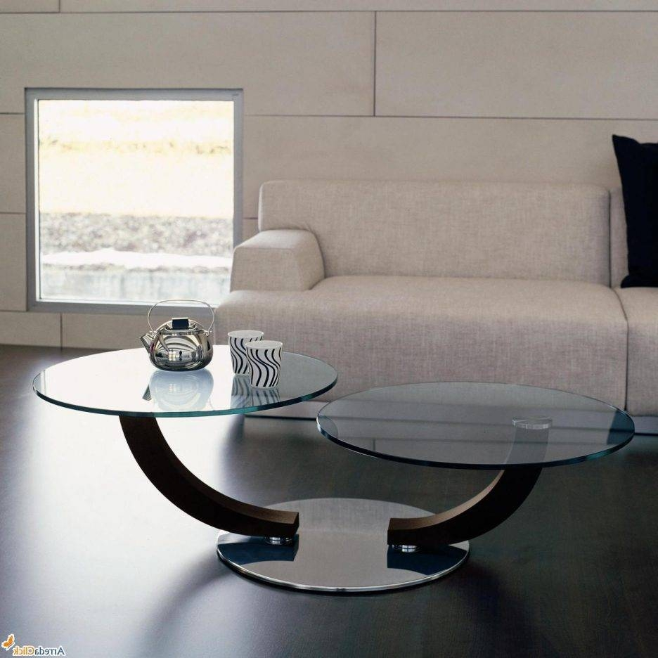 Living Room : Wonderful Round Glass Coffee Table Decorating Ideas with regard to Round Swivel Coffee Tables (Image 17 of 30)