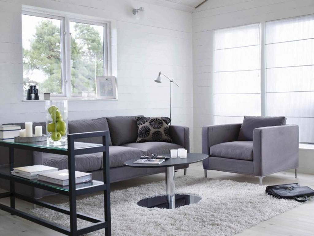 Living Room : Yellow Side Chair And Grey Sofa Plus Small Round pertaining to Grey Sofa Chairs (Image 20 of 30)