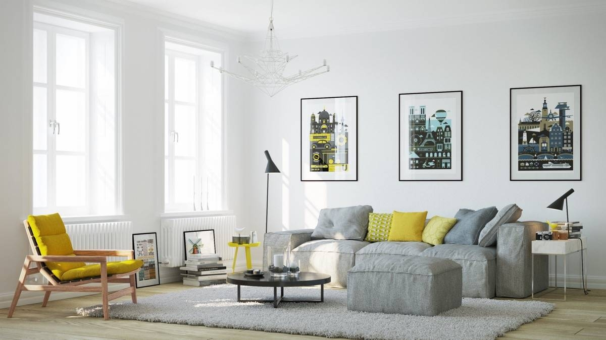 Living Room : Yellow Side Chair And Grey Sofa Plus Small Round with Yellow Sofa Chairs (Image 21 of 30)