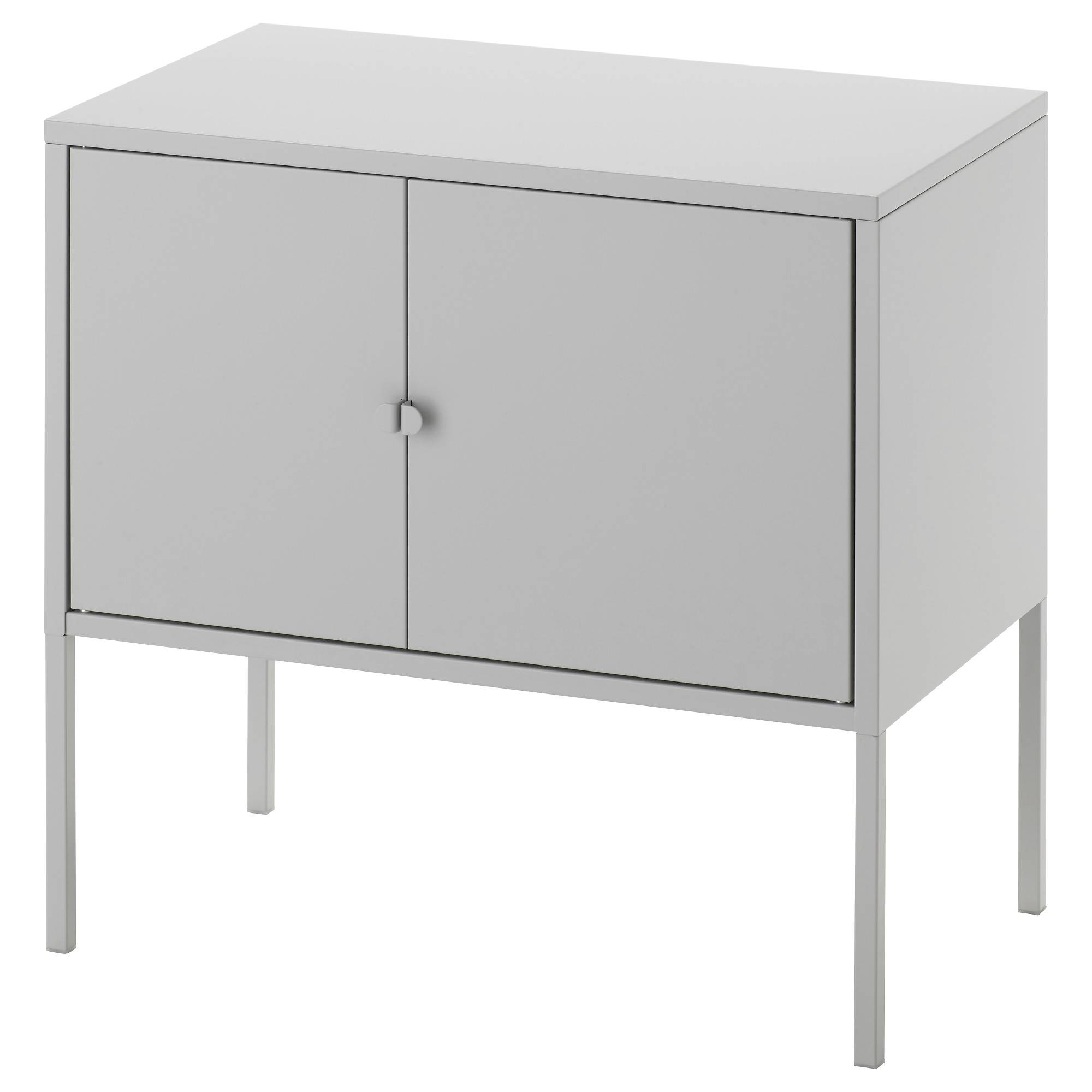 Lixhult Cabinet Metal/grey 60X35 Cm - Ikea pertaining to Metal Sideboard Furniture (Image 24 of 30)