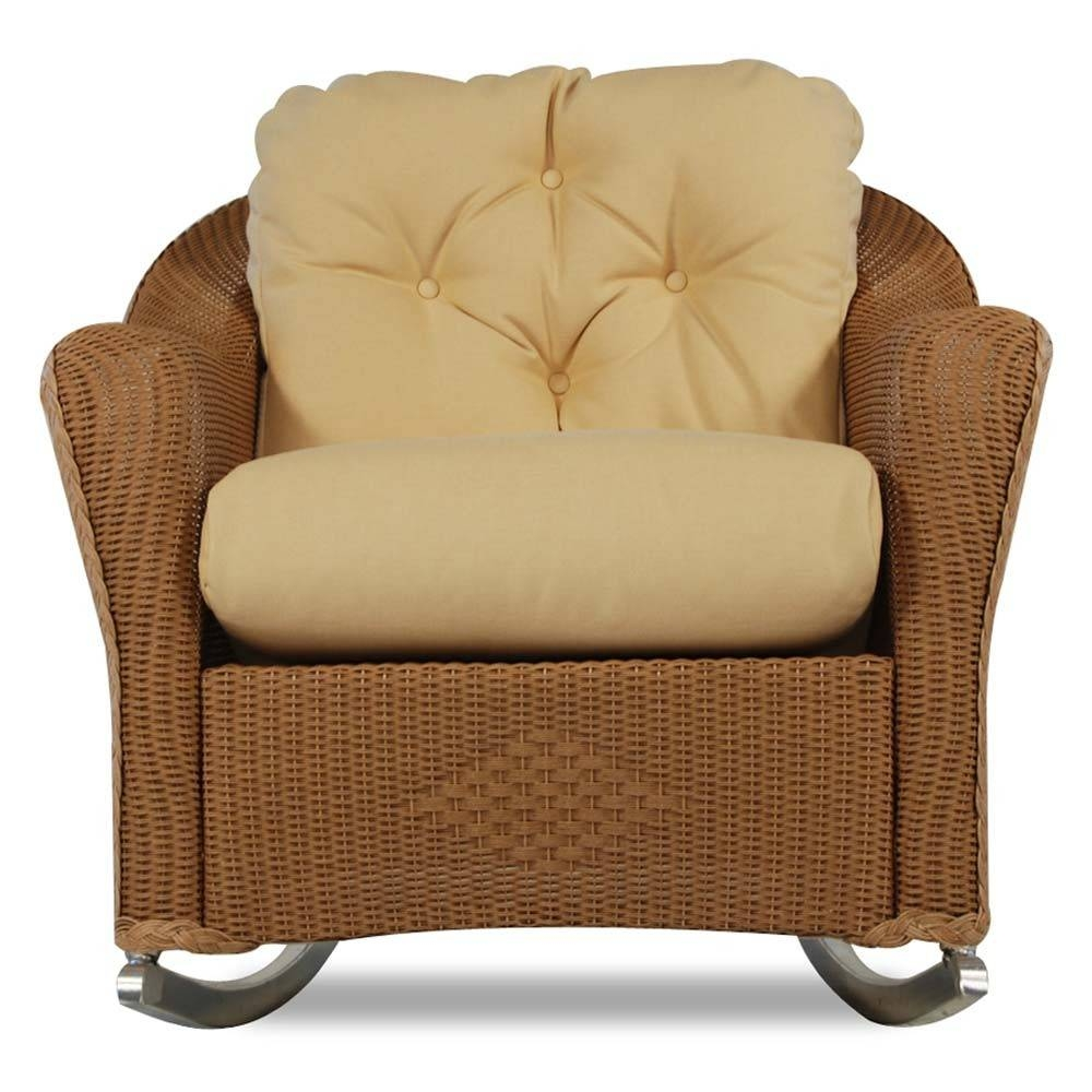 Lloyd Flanders Reflections Wicker Lounge Rocker - Special throughout Sofa Rocking Chairs (Image 13 of 30)