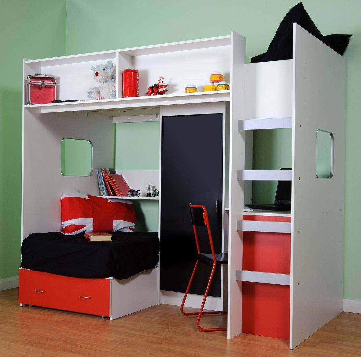 Loft Beds : Bunk Bed With Wardrobe Underneath 117 Kids Furniture throughout Childrens Bed With Wardrobes Underneath (Image 14 of 15)