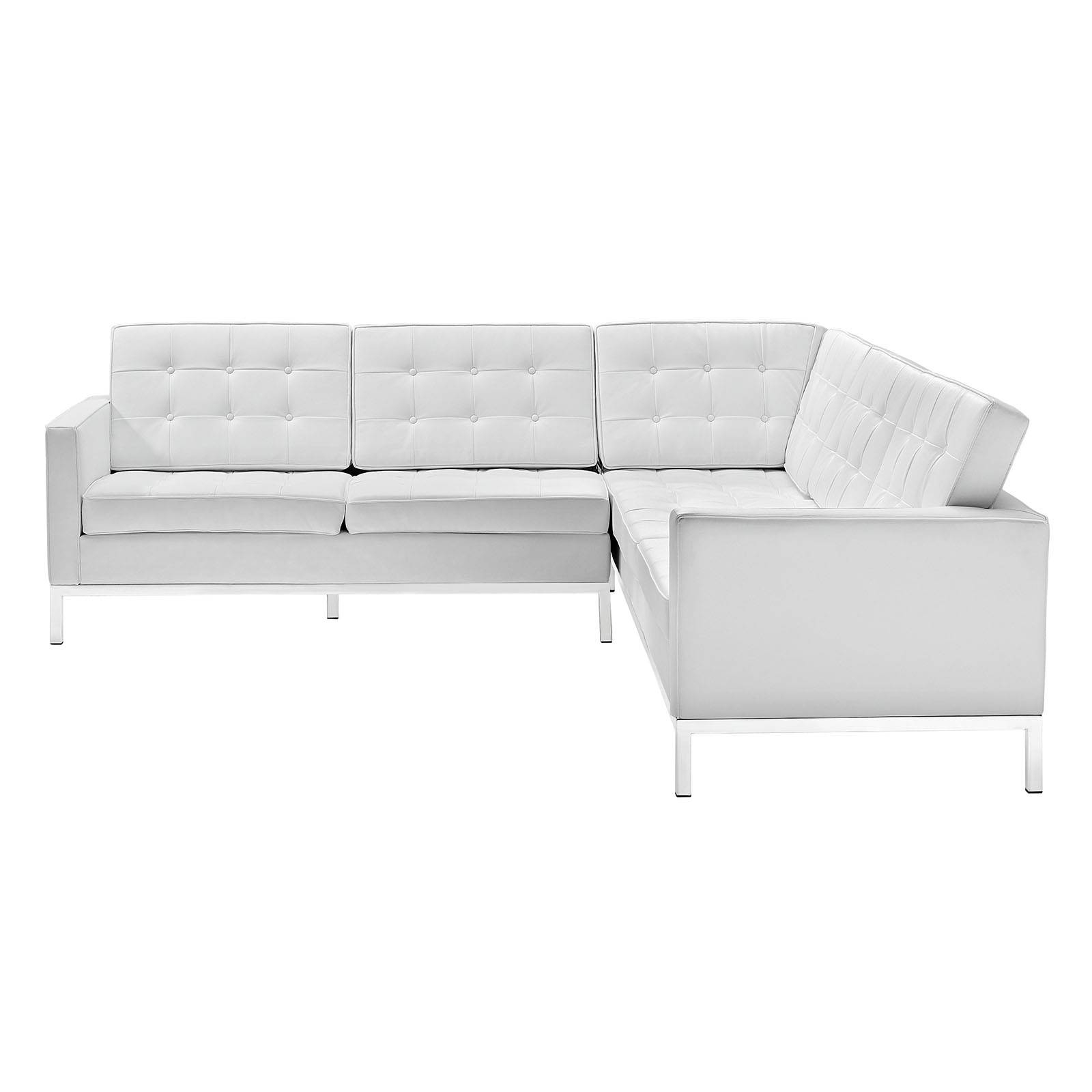 Loft L-Shaped Leather Sectional Sofa (Multiple Colors)Modway with Leather L Shaped Sectional Sofas (Image 25 of 30)