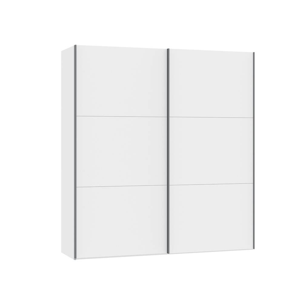 Loft Two Door Sliding Wardrobe White Glass - Dwell in Two Door White Wardrobes (Image 6 of 15)