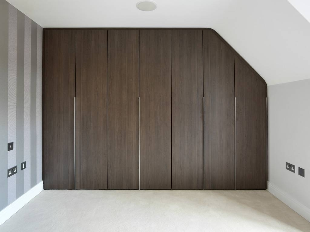 Loft Walnut Modern Fitted Wardrobe | Bespoke Furniture | Fitted intended for Walnut Wardrobes (Image 11 of 15)
