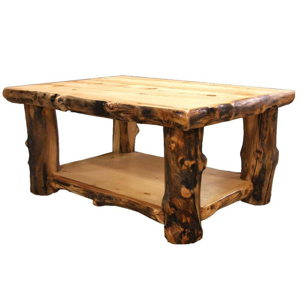 Log Coffee Table - Country Western Rustic Cabin Wood Table Living with Rustic Style Coffee Tables (Image 26 of 30)