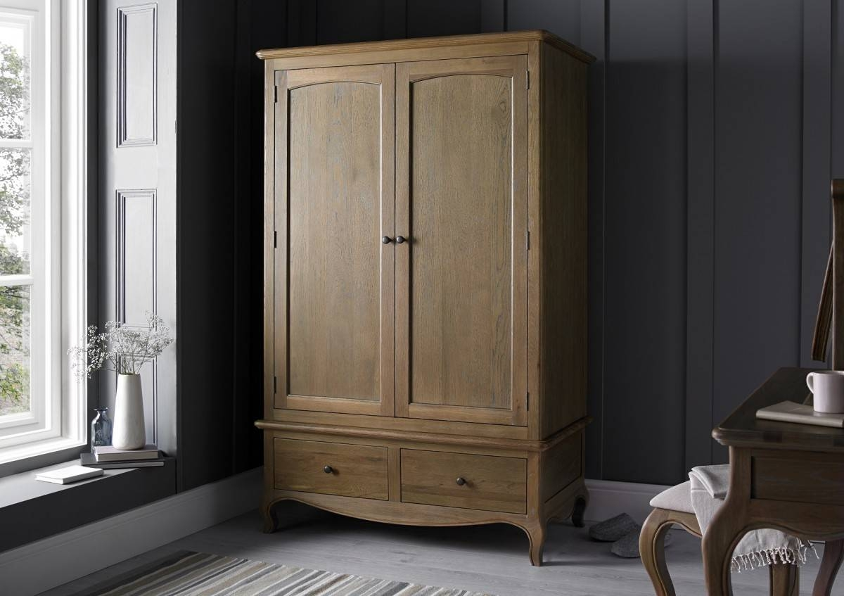 Loire Weathered Oak Wardrobe - Dressing Tables - Furniture for Oak Wardrobes (Image 5 of 15)