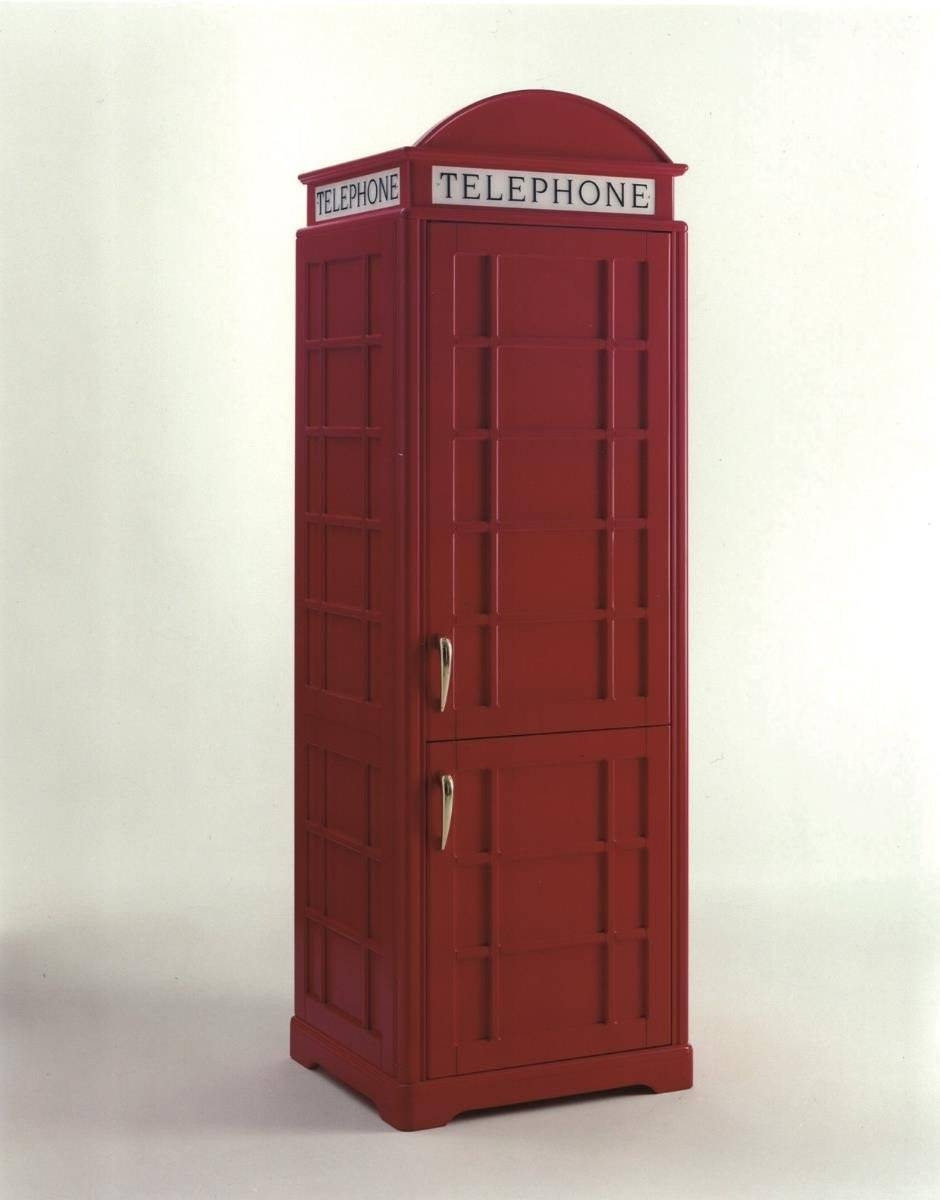 London Phone Box Fridge - Kitchen Furniture - Kitchenware - Furniture in Telephone Box Wardrobes (Image 8 of 15)