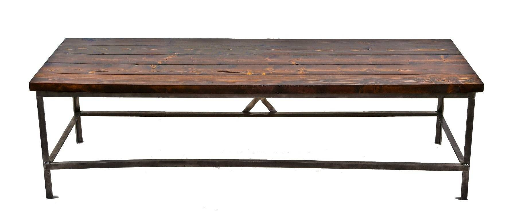 Long And Narrow C. 1940's Repurposed American Industrial Brushed within Long Coffee Tables (Image 9 of 15)