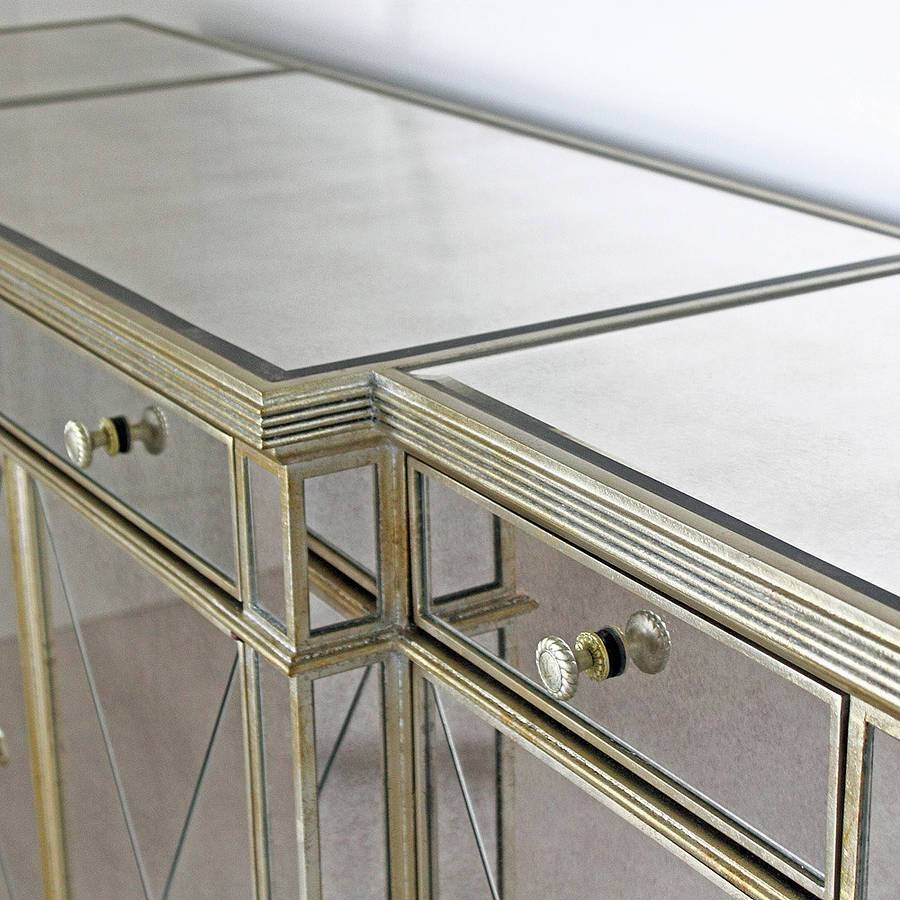 Long Antique Mirrored Sideboardout There Interiors regarding Venetian Mirrored Sideboards (Image 10 of 30)