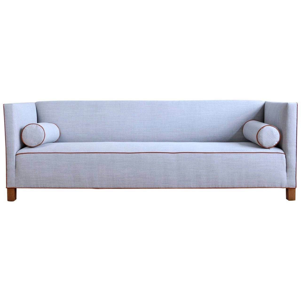 Long Danish 1930S Sofa Upholstered In Wool And Leather At 1Stdibs for 1930S Sofas (Image 12 of 30)