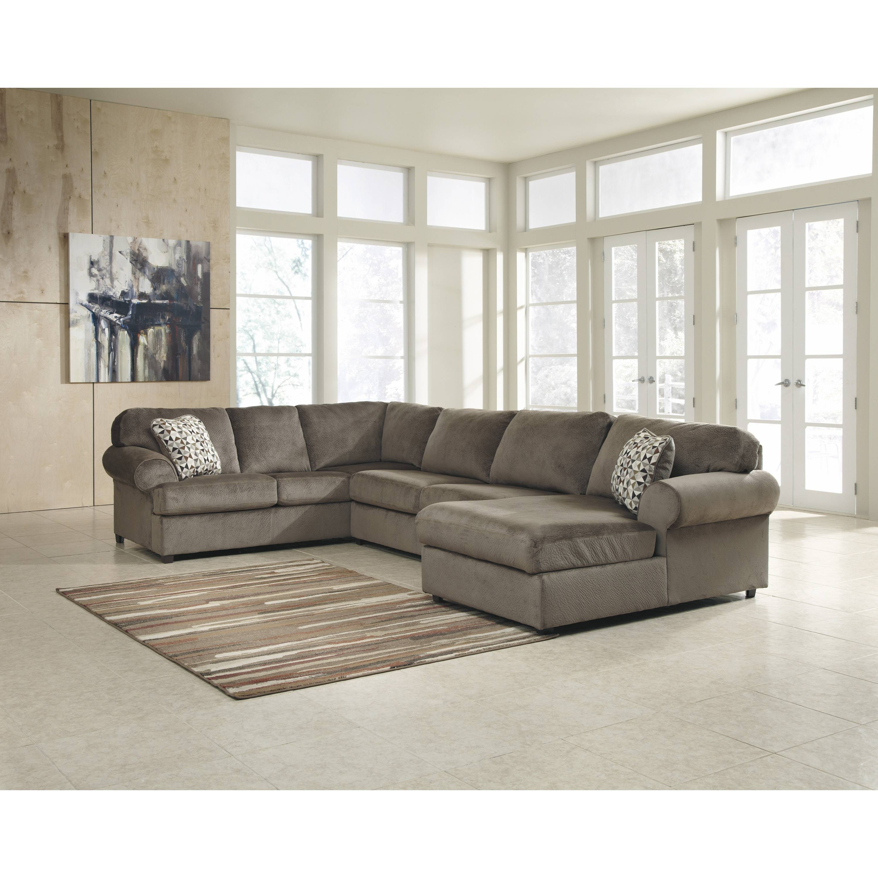 Long Sectional Sofa With Chaise | Tehranmix Decoration throughout Down Filled Sectional Sofa (Image 9 of 25)