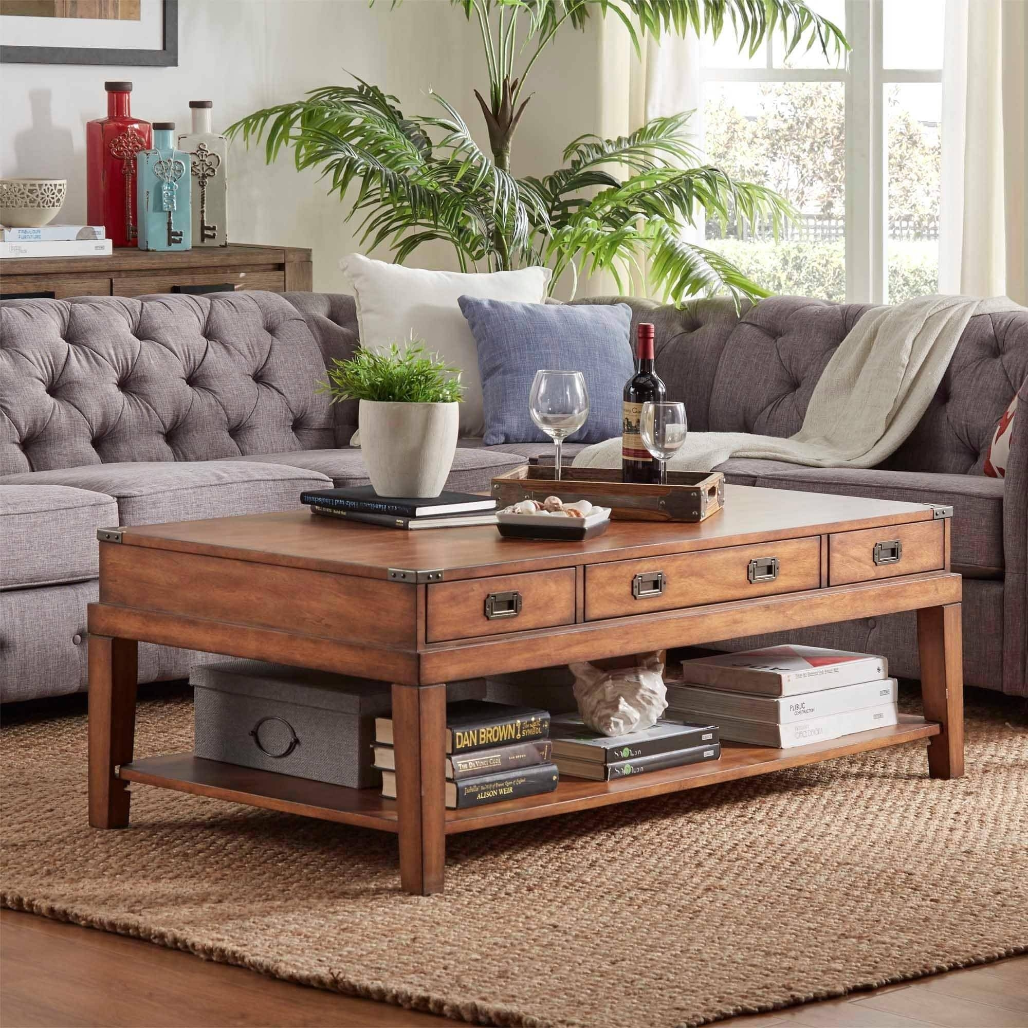 Lonny Wood Storage Accent Campaign Coffee Tableinspire Q throughout Campaign Coffee Tables (Image 20 of 30)