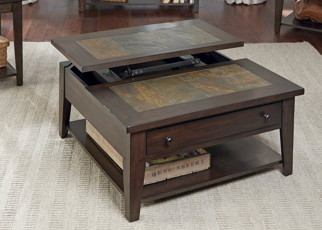 Loon Peak Leadville North Coffee Table With Lift Top & Reviews with Coffee Tables Extendable Top (Image 16 of 30)