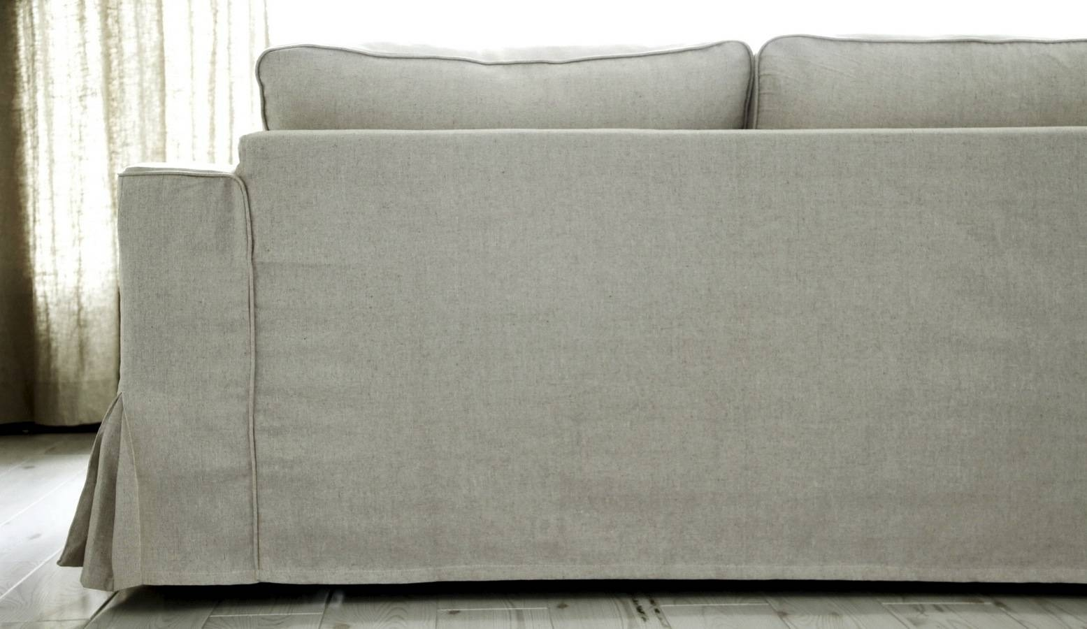 Loose Fit Linen Manstad Sofa Slipcovers Now Available with Slipcovers Sofas (Image 18 of 30)