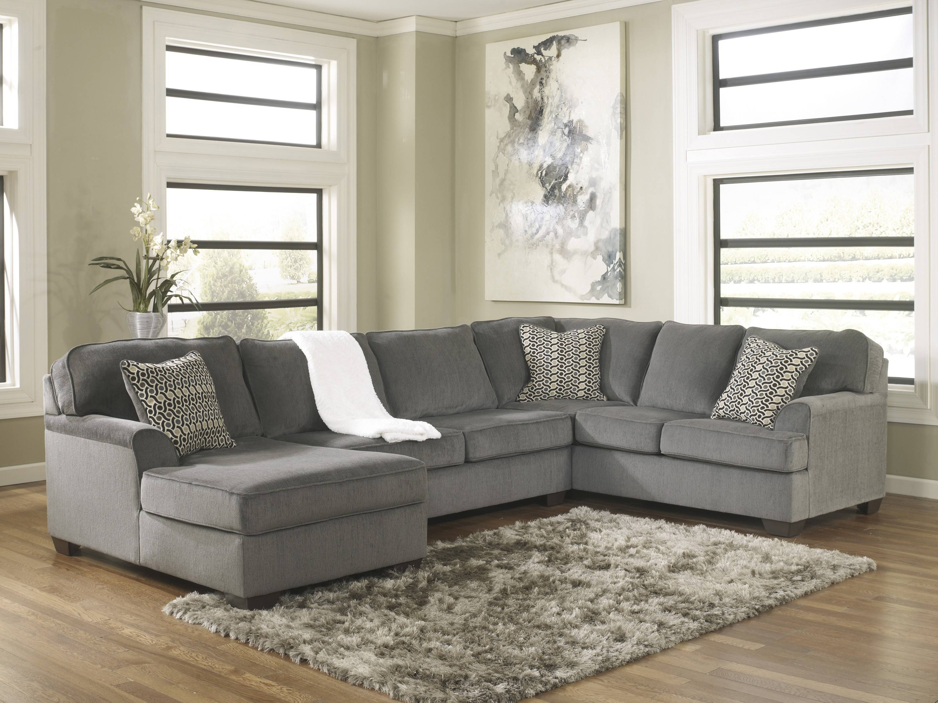 Loric Smoke 3-Piece Sectional Sofa For $790.00 - Furnitureusa pertaining to Media Sofa Sectionals (Image 10 of 25)