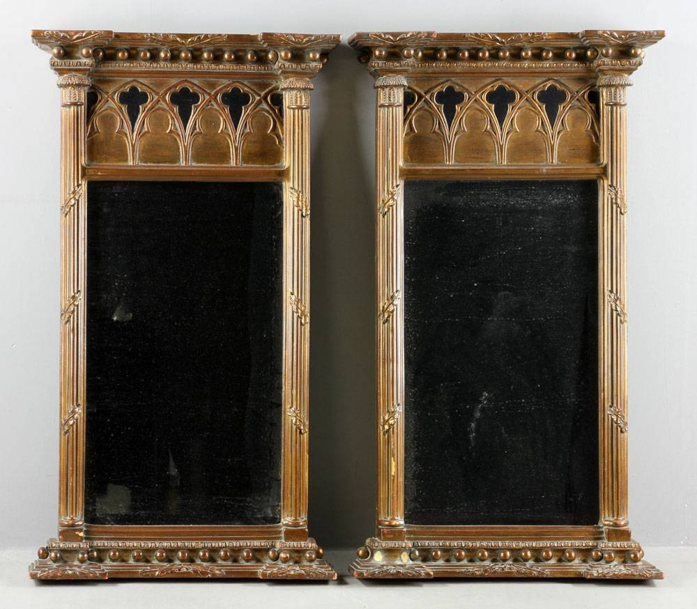 Lot Detail - Pr. Gothic Style Mirrors within Gothic Style Mirrors (Image 19 of 25)