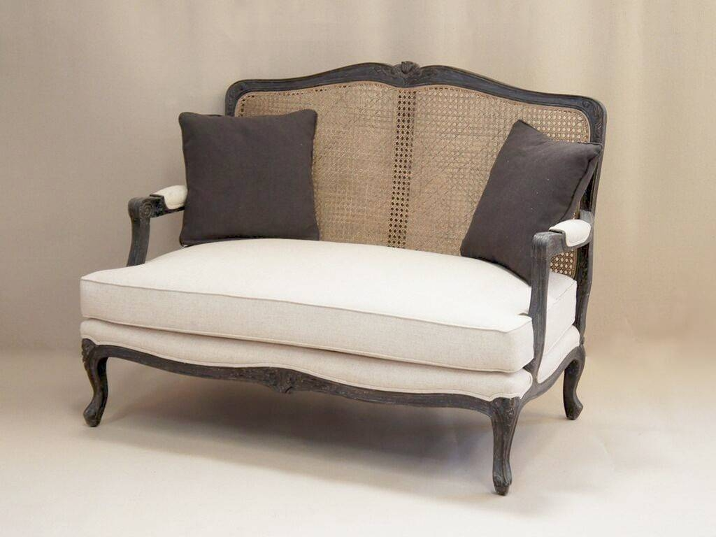 Louis French 2 Seater Sofa With Rattan Back | French Style Sofa with regard to French Style Sofas (Image 15 of 25)