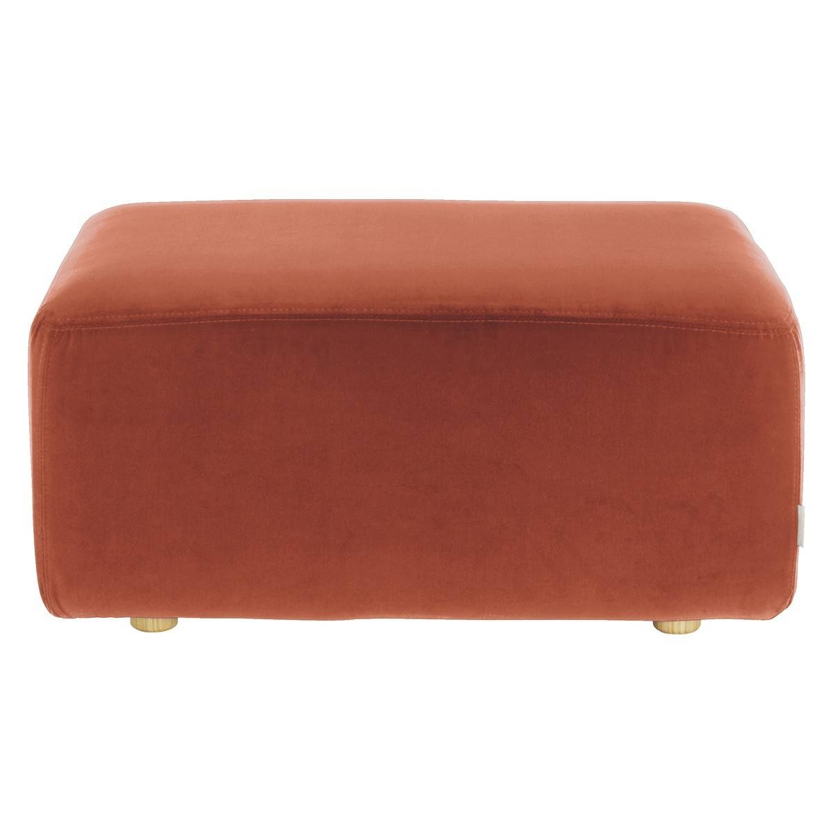 Louis Orange Velvet Footstool | Buy Now At Habitat Uk inside Velvet Footstool (Image 24 of 30)