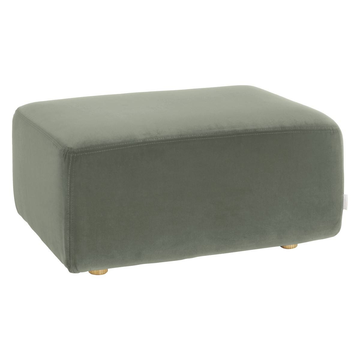 Louis Sage Green Velvet Footstool | Buy Now At Habitat Uk regarding Velvet Footstool (Image 25 of 30)