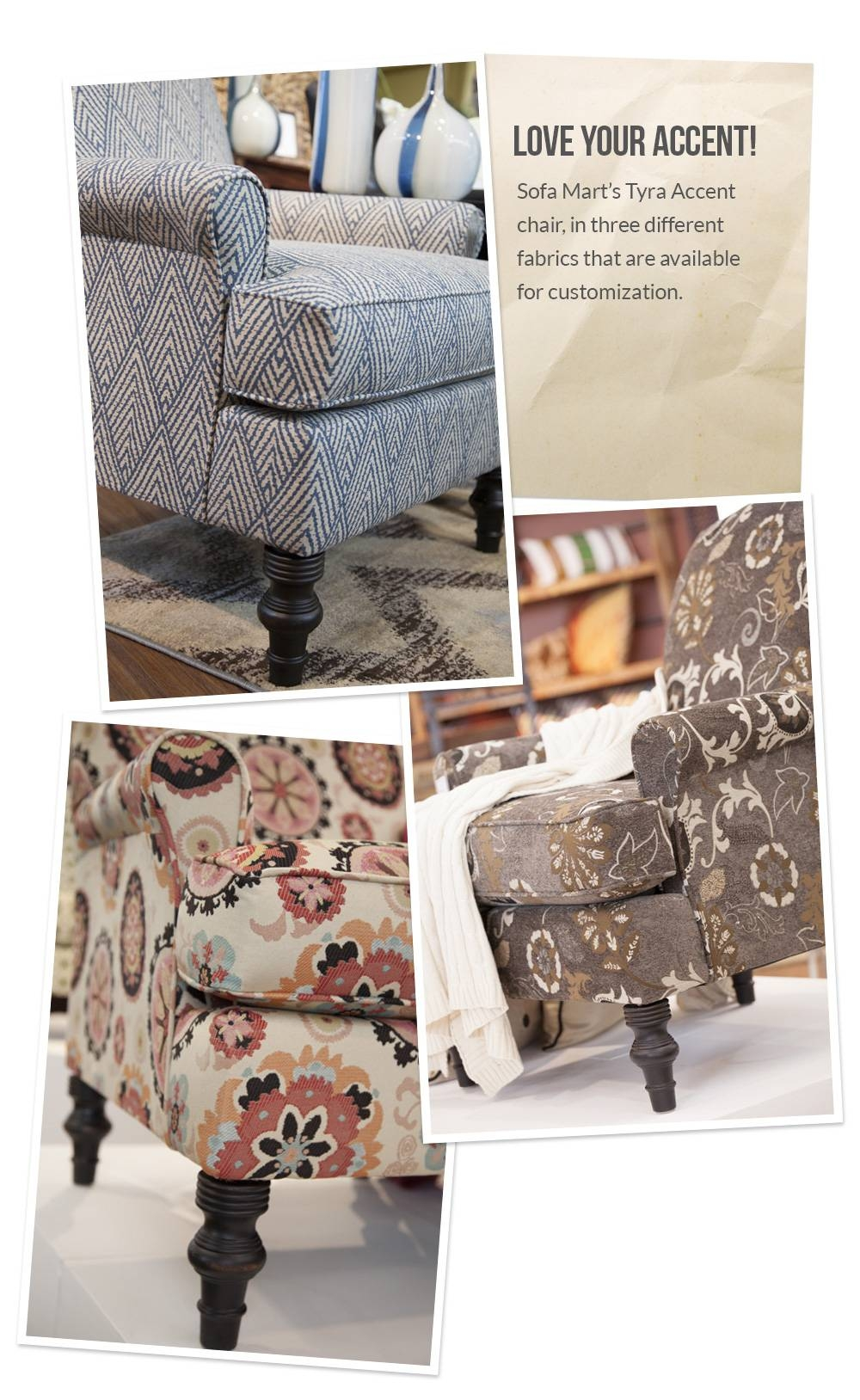 Love Your Accent! Custom Accent Chair Fabrics – Front Door With Sofa Mart Chairs (View 17 of 30)