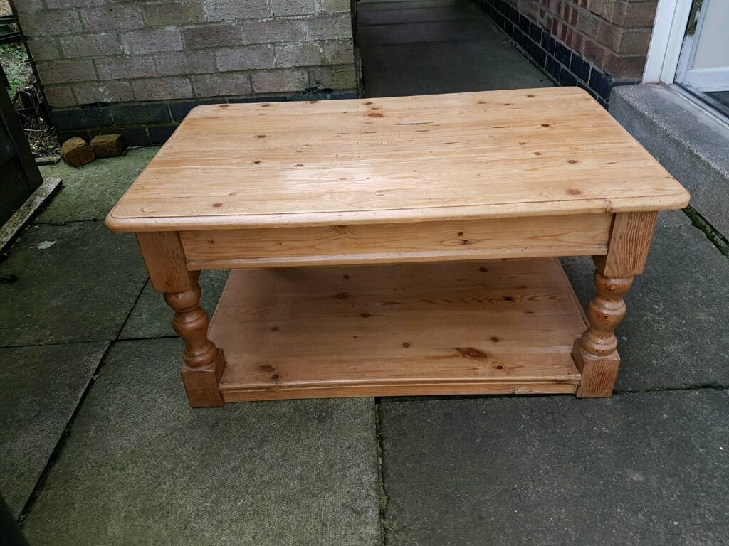 Lovely Antique Pine Coffee Table | In Barwell, Leicestershire pertaining to Antique Pine Coffee Tables (Image 20 of 30)